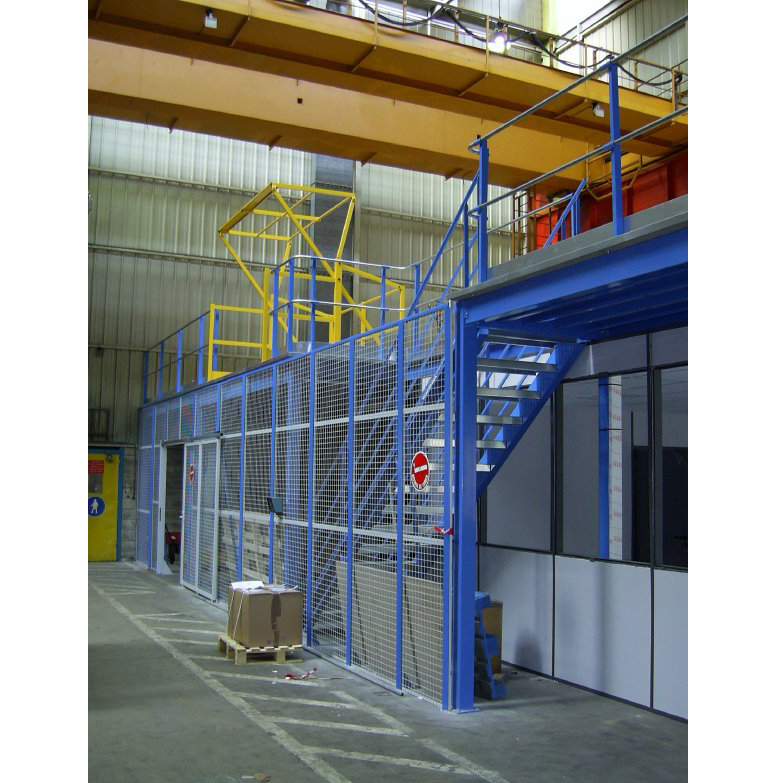 Mezzanine avec cloison grillagee rayonor maintenance and co - Mezzanine avec plateforme ...